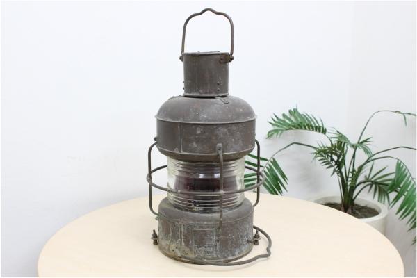 紅燈 油用 日船式第三号 日本船燈 灯油ランプ レトロの買取-