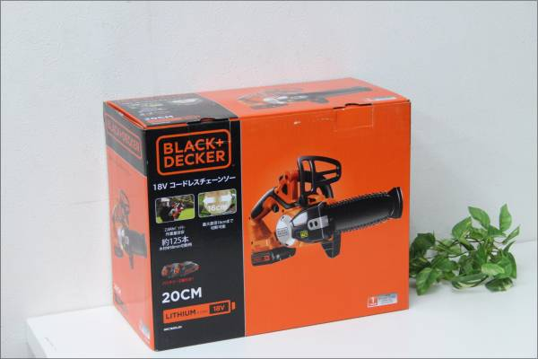 (鳥栖市)【新品】 B&D 充電式チェーンソー GKC1820L2N セットの買取-8000