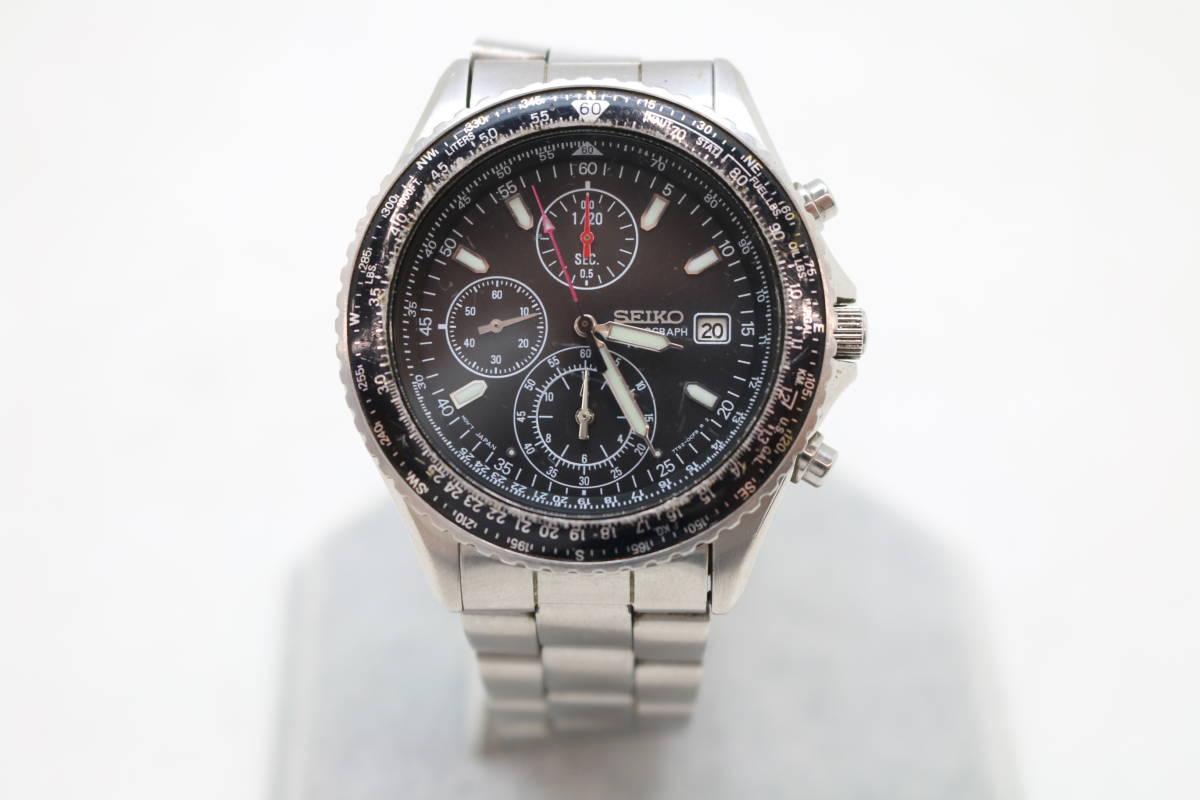 【SEIKO/セイコー 7T92-0CF0 腕時計 クロノグラフ クォーツ ブラック】を買取致しました。の買取-