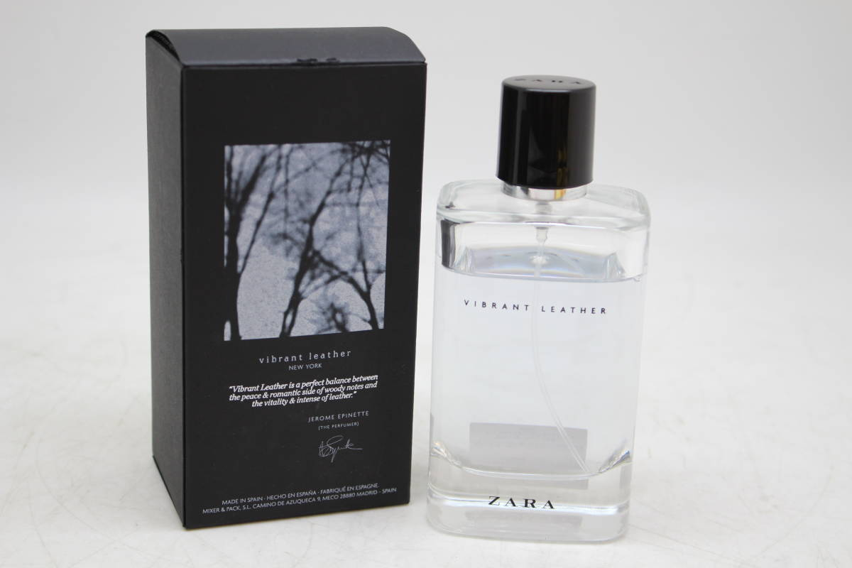 ZARA/ザラ ヴァイブラント レザー オードパルファム 120ml 香水 スペイン メンズ 男性用を買取りさせて頂きました。の買取-
