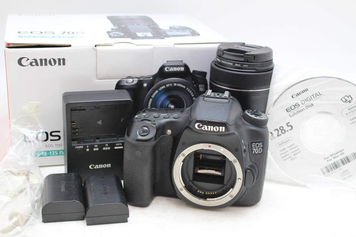 【動作品】 Canon/キャノン EOS70D デジタル 一眼レフ カメラ EF-S18-135IS STM KIT レンズ 55-250mm 1:4-5.6 バッテリーを買取りさせて頂きました!!の買取-