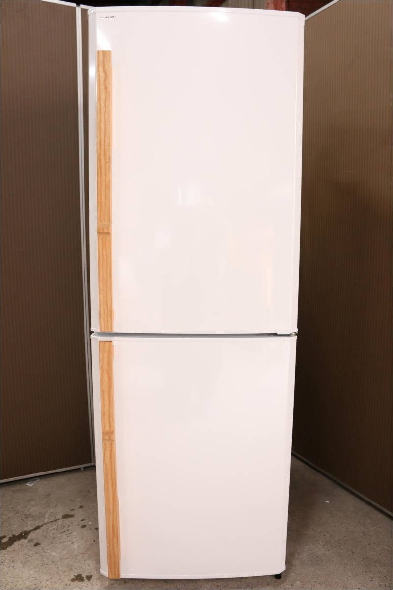 (福岡市南区)amadana アマダナ ノンフロン冷凍冷蔵庫 256L  ZR-441-WHの買取-35000