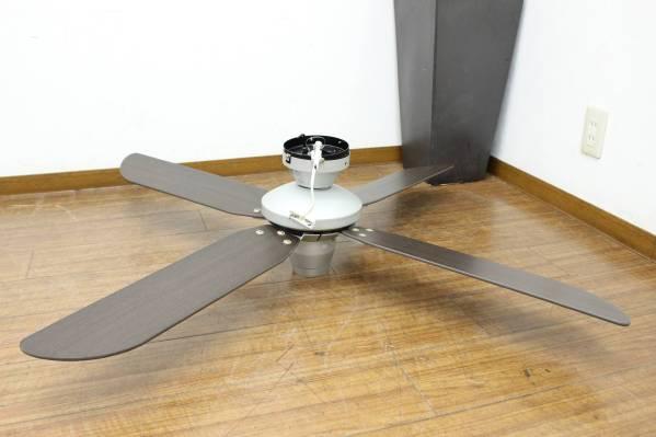 (福岡市中央区) オーデリック 天井扇 シーリングファン 木目調 4枚羽 リモコン付の買取-1800