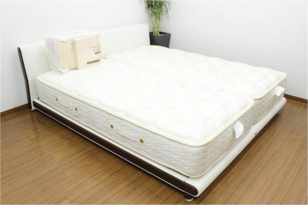 (福岡市中央区)SIMMONS シモンズ キングサイズベッド ポケットコイルスプリング 羊毛ベッドパッド付きの買取-