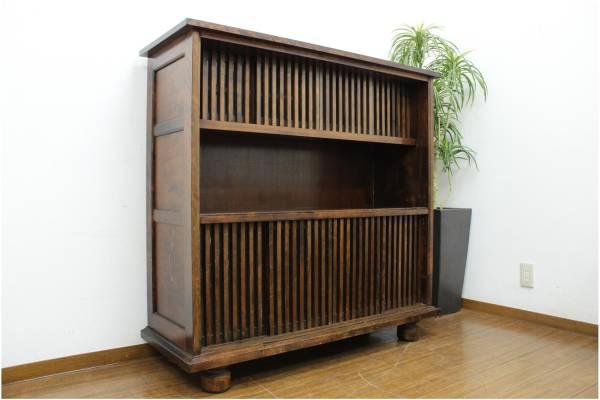(大野城市)九州民芸家具 サイドボード 無垢材 飾り棚の買取-8000