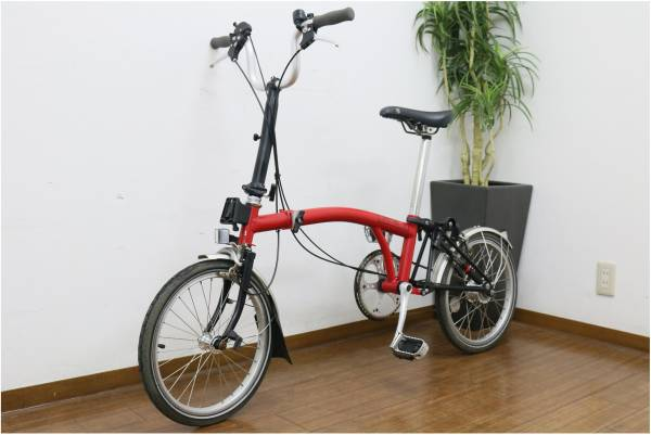 (福岡市南区)BROMPTON ブロンプトン M3L レッド 赤 折り畳み自転車 ZEFAL ゼファールの買取-