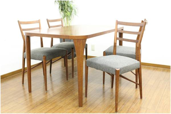 (福岡市早良区)nissin 日進木工 ダイニング5点セット テーブル チェアの買取-25500