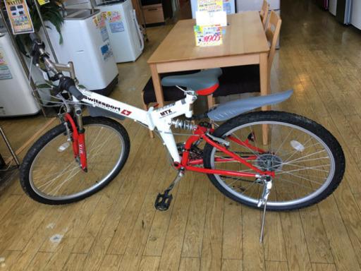 【Switzsport スウィツスポート 26インチ 折り畳み 自転車 マウンテンバイク MTX F26L 18段変速ギア】お買取りしました!の買取-